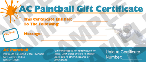 ac paintball gift certificate sample